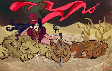It's Dusk In The Desert by elleprimadonna