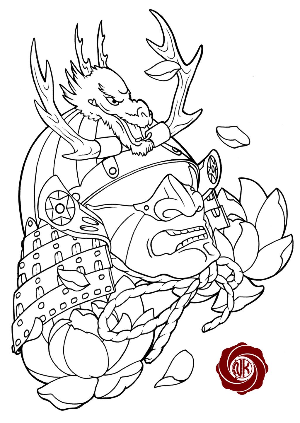 Traditional Japanese Samurai Tattoo Designs