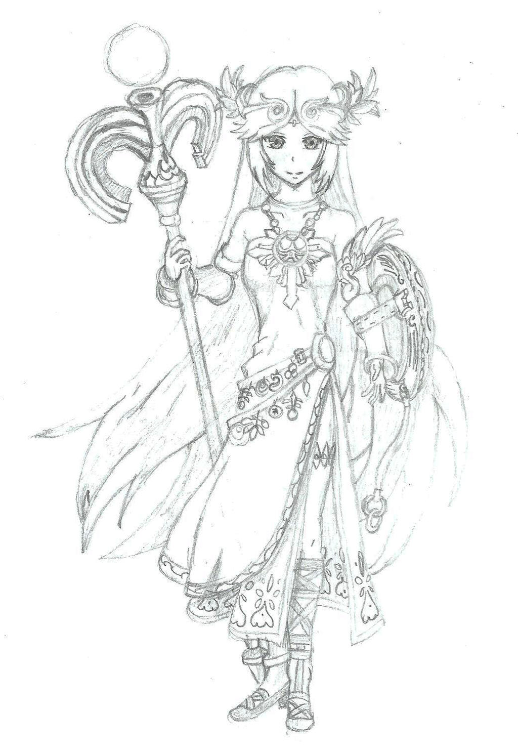 Kid Icarus Palutena By BurningTiger9000