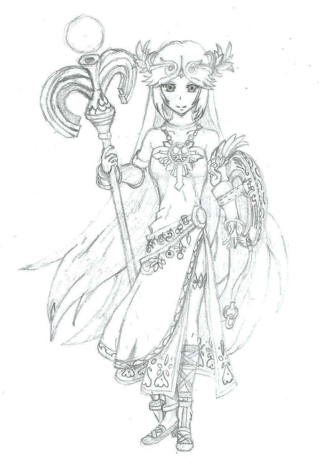 Kid Icarus Palutena By BurningTiger9000 On DeviantArt