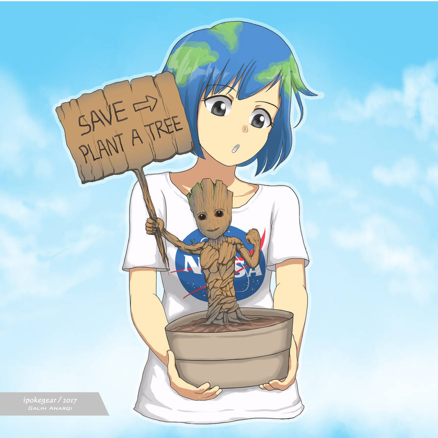 Save Earth, Plant a Tree! by ipokegear