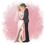 (Comm) Ash and Serena's Wedding Kiss