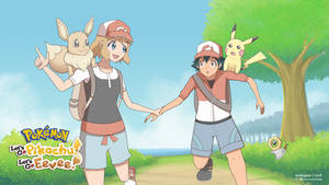 Let's GO! Ash and Serena by ipokegear