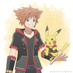 Sora and Pikachu by ipokegear