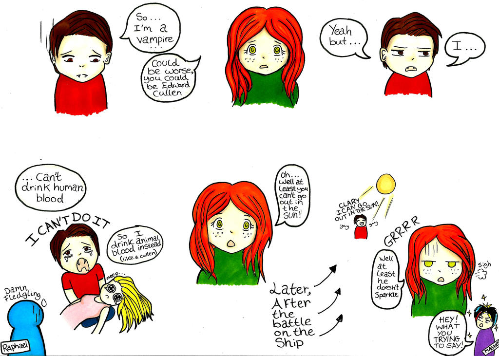 City of ashes comic so he s a vampire now by missanimestranger on