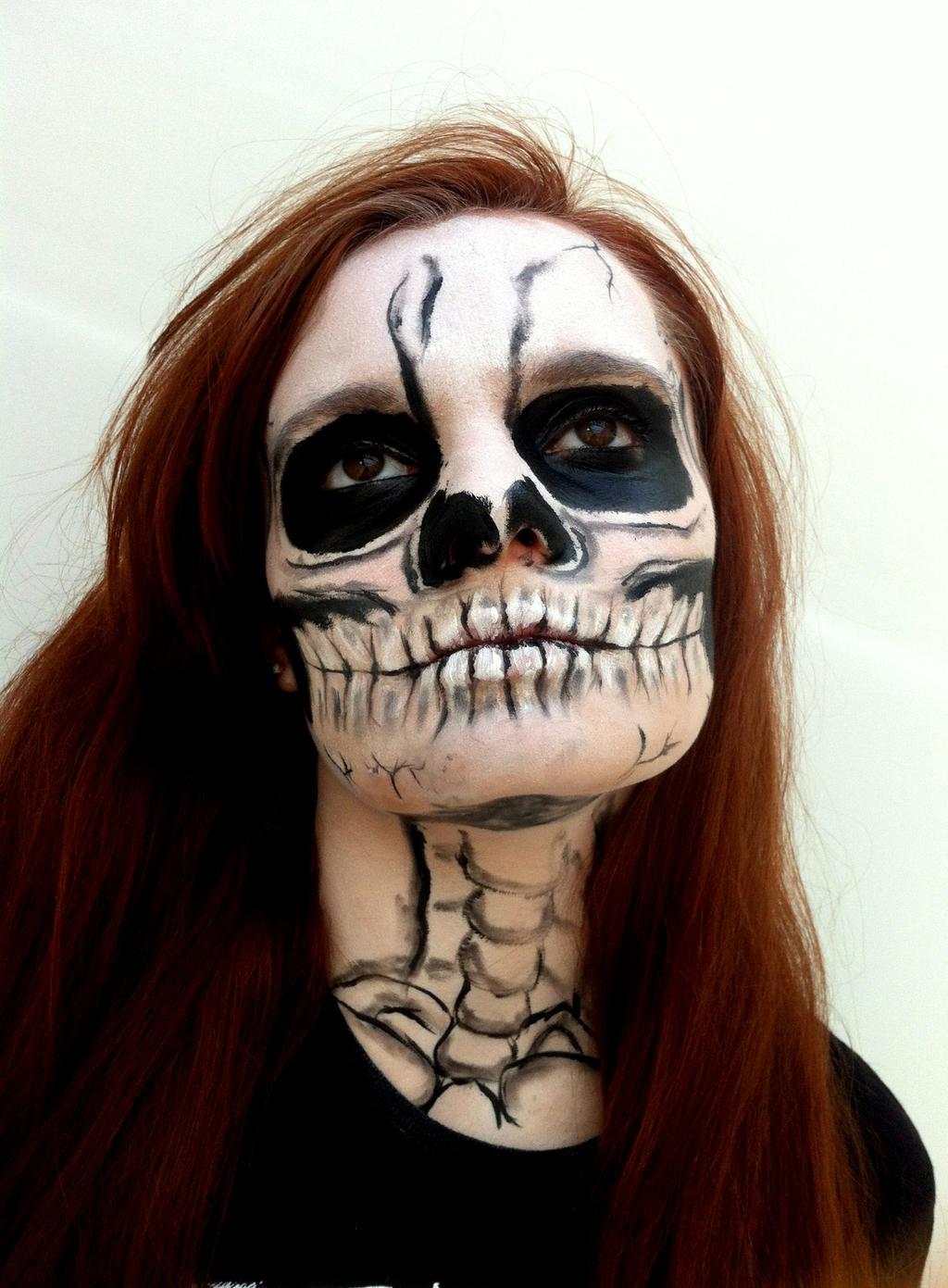 Skull Makeup by missanimestranger