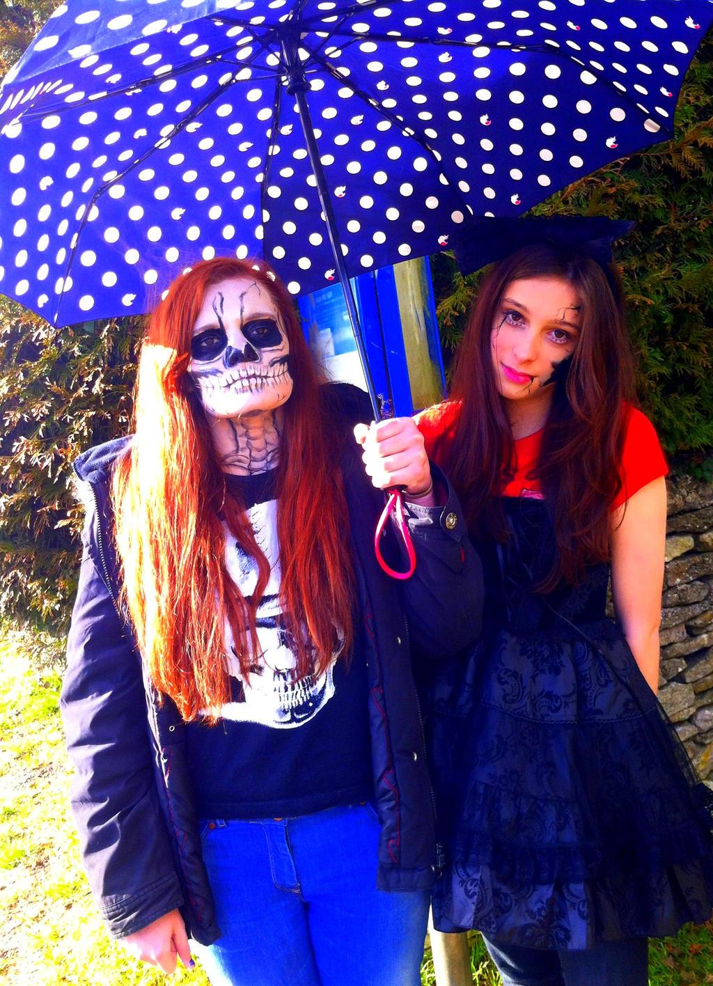 Skeleton and Doll Face by missanimestranger