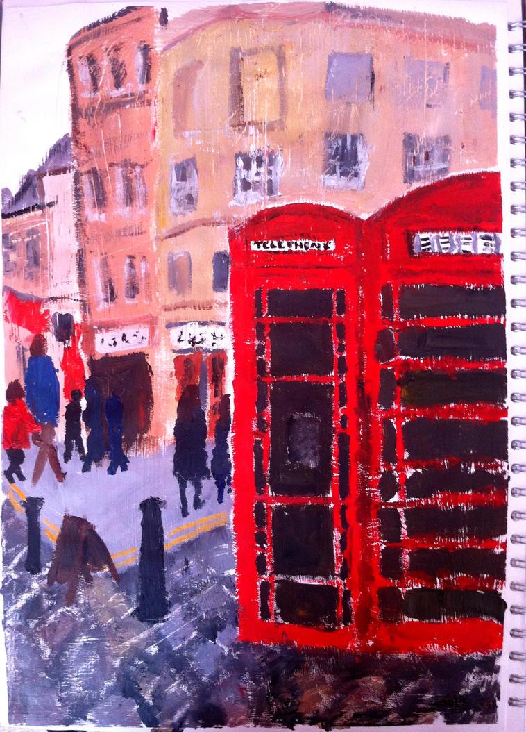 Telephone Boxs in Bath... by missanimestranger