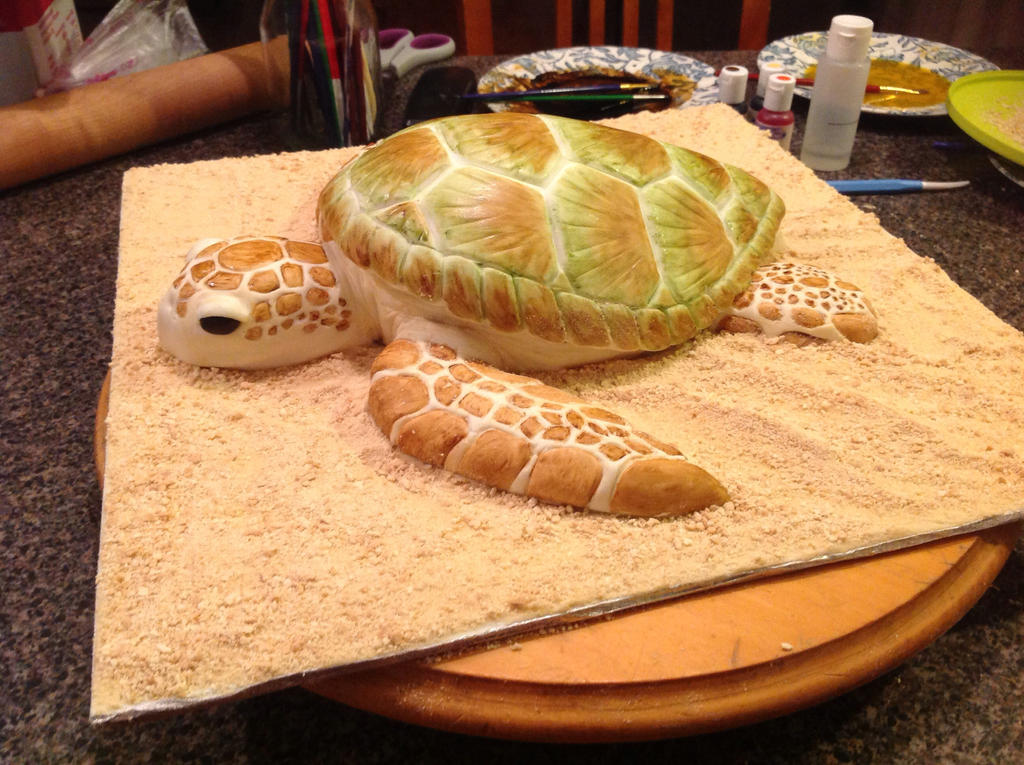 Sea Turtle Cake by AsheryW