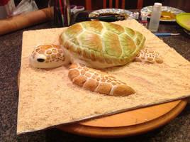 Sea Turtle Cake by AsheryW