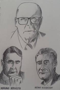Urho Kekkonen, Mauno Koivisto and Reino Kuuskoski