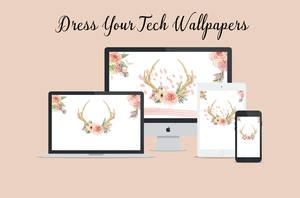 Dress Your Tech Flower Antler Wallpaper Pack by dlolleyshelp