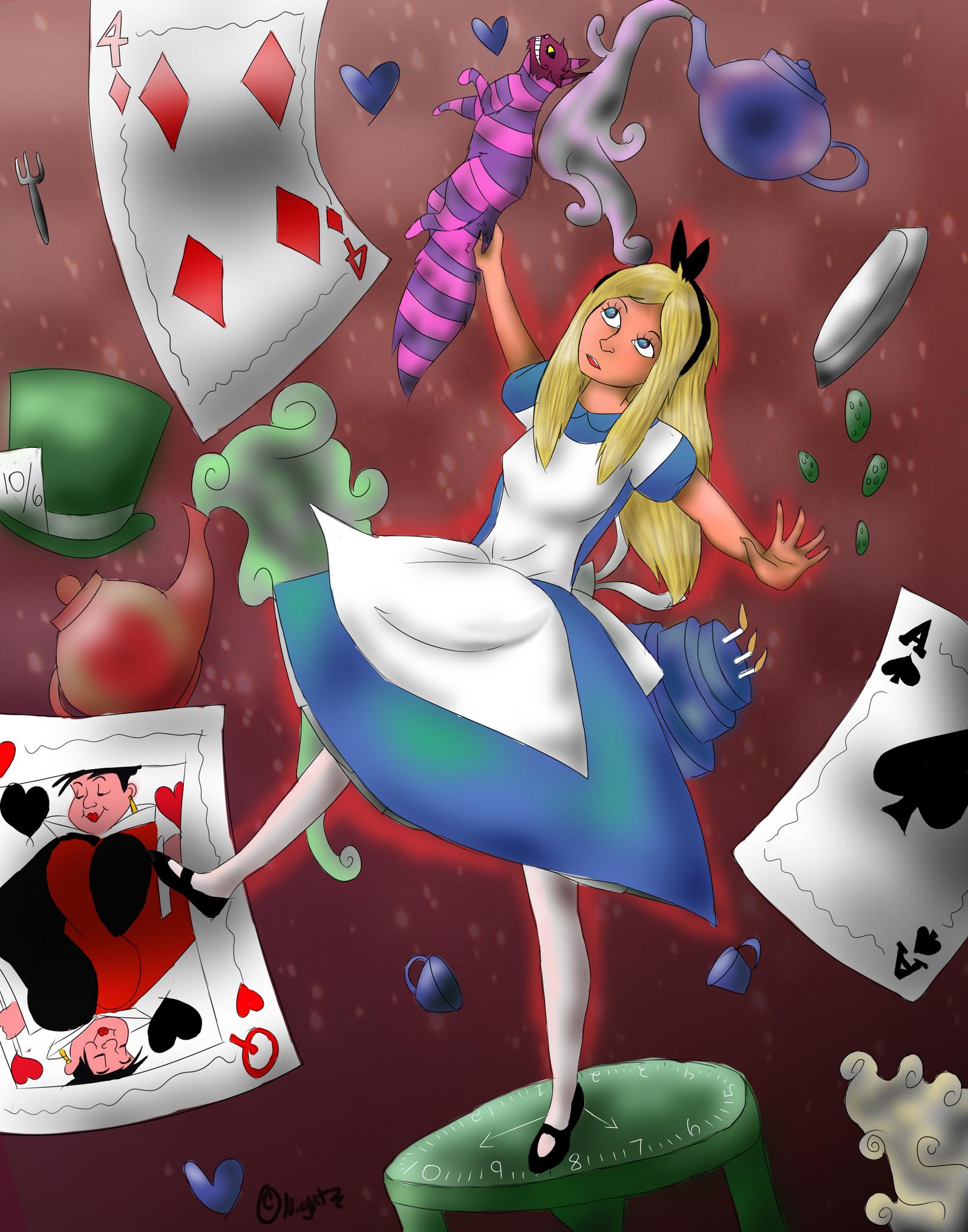 Wallpaper iphone alice wonderland - Alice In Wonderland By Exodusa Alice In Wonderland By Exodusa