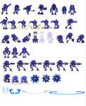 Custom Mecha Sonic sprites