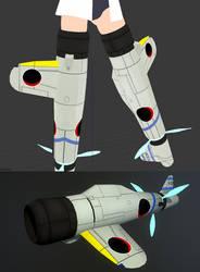 [MMD WIP] Sakamoto Mio - Striker Unit Sample #1 by Jatts-Art