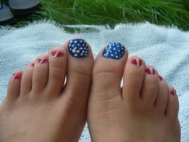 Patriotic Pedicure by Celeste707