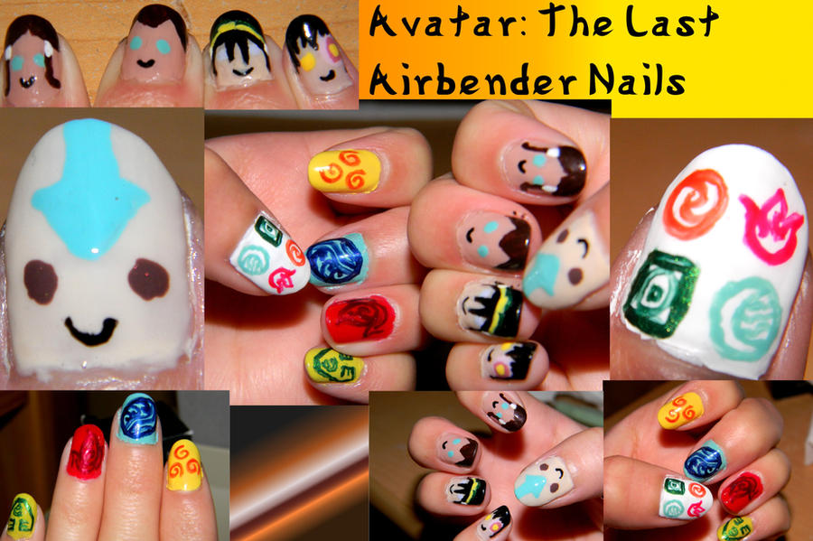 Avatar: The Last Airbender Manicure by Celeste707
