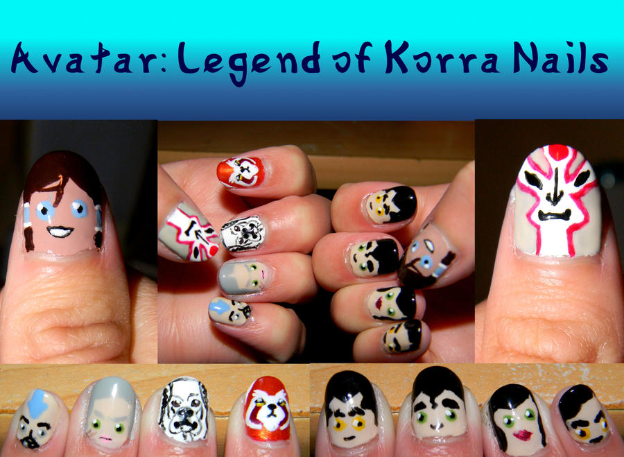 Legend of Korra Manicure by Celeste707