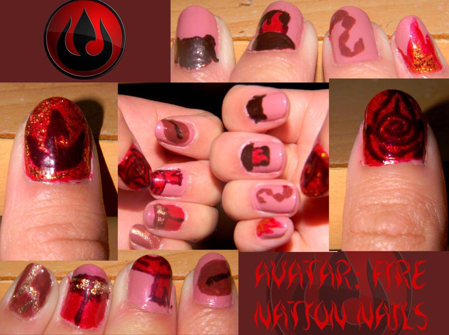 Avatar: Fire Nation Nails by Celeste707