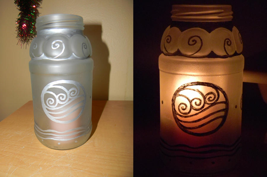 Water Tribe Candle Jar by Celeste707