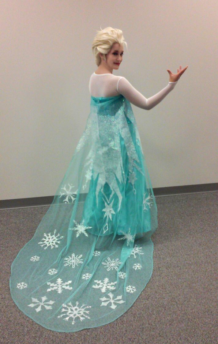 Elsa's Flowing Cape by Celeste707
