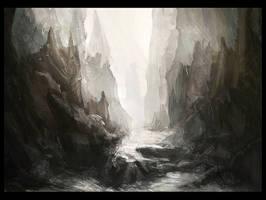 Rocky landscape by WiredHuman