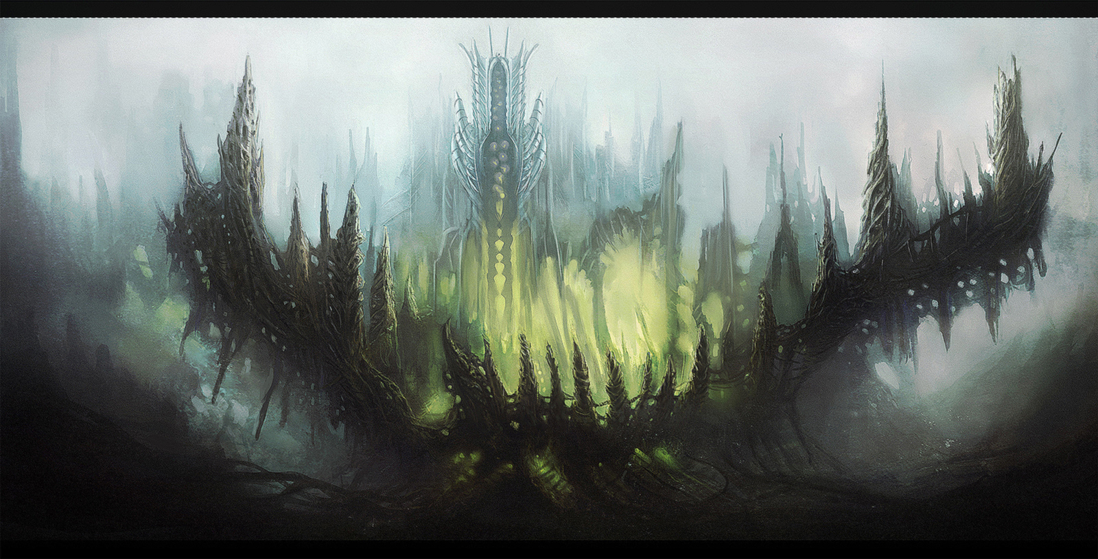 Fantasy landscape by WiredHuman on DeviantArt