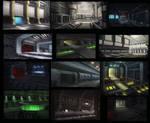 sci-fi interior speed paintings