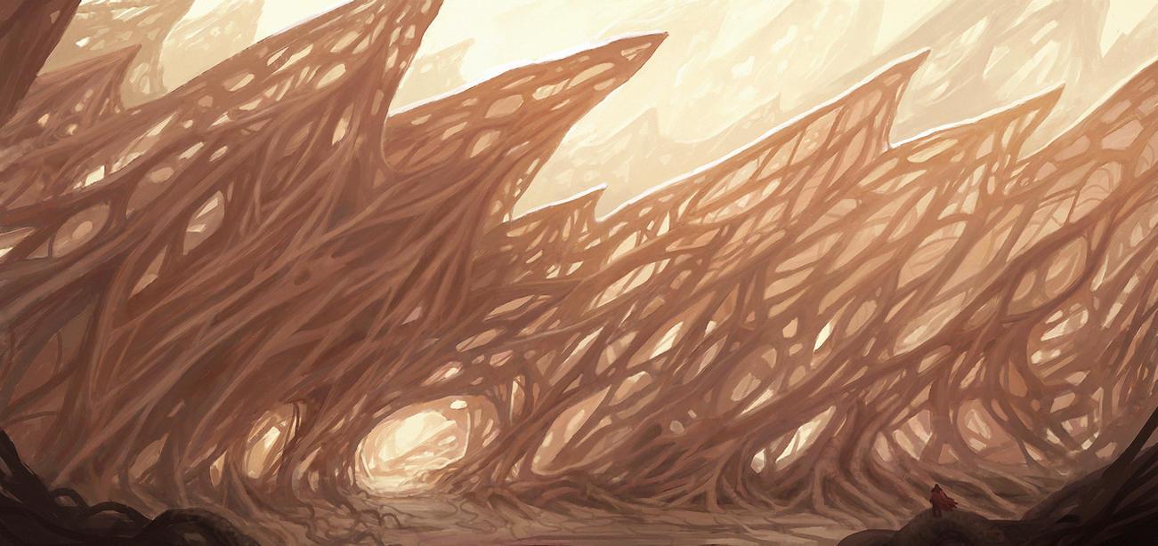 Alien forest by WiredHuman