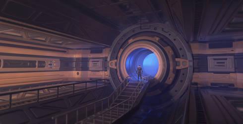 Sci-fi Interior by WiredHuman
