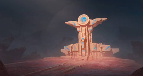 Alien temple by WiredHuman