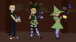 Witchy Librarian by mapmapchap
