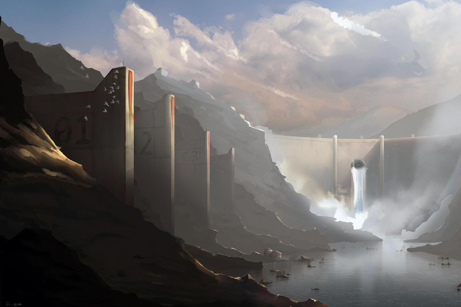 Below the Dam by Nyius