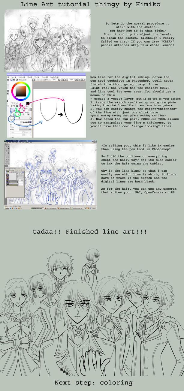 Line Art Sai : Line art tutorial in sai by himiko on deviantart