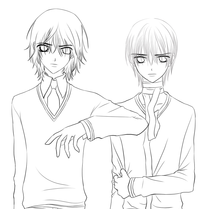 anime vampire knight coloring pages - photo#17