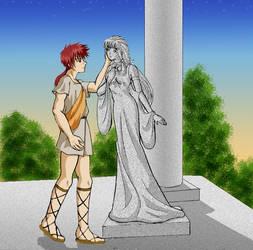 Pygmalion and Galatea by himiko