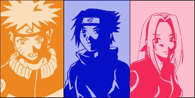 Naruto, Sasuke and Sakura by himiko