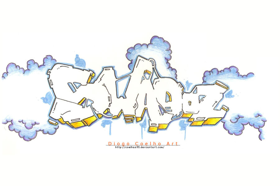 Love Graffiti Sketches Graffiti Sketch 5 by Coelhao95