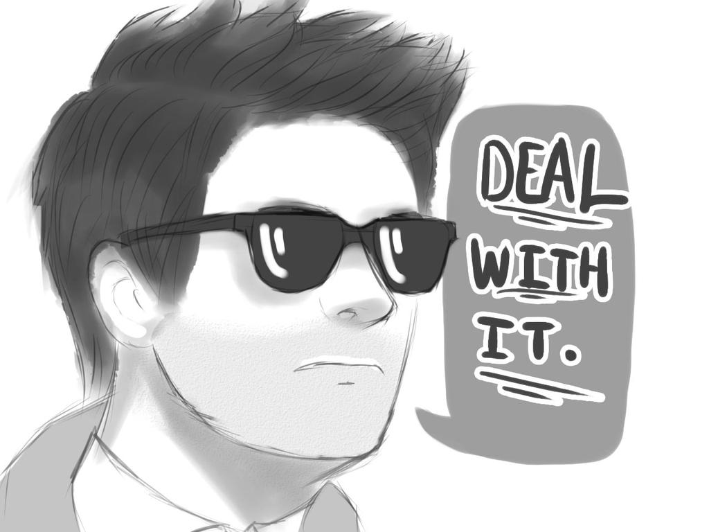 Deal with it Cas by LuxSomnium