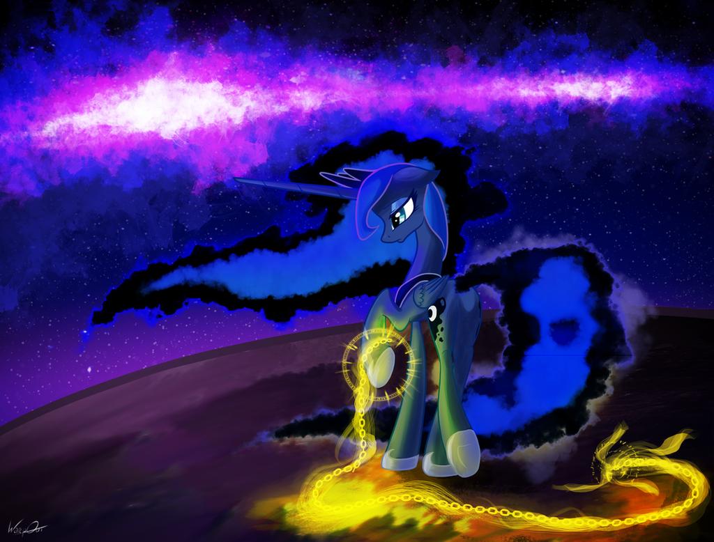 Luna in chains by WarpOut