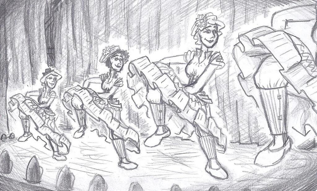 Les Danseuses de Moulin Rouge by CalvinAndHobbit