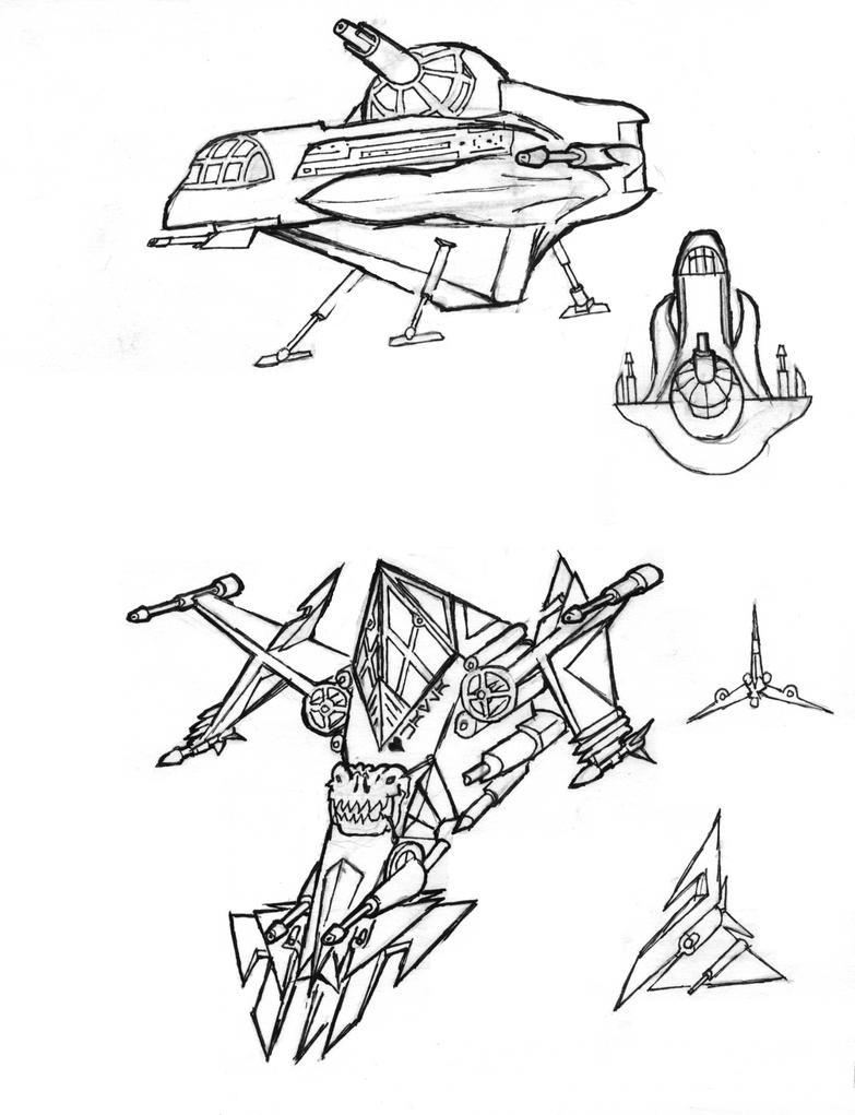 Random Ship Designs by CalvinAndHobbit