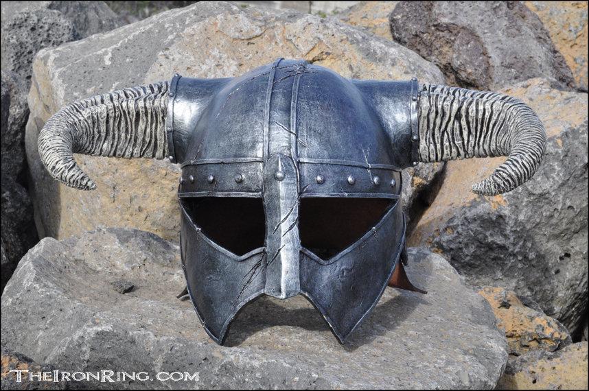 Skyrim: Dovahkiin iron helm replica I by TheIronRing