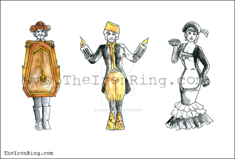 Beauty And The Beast Sketches I By TheIronRing