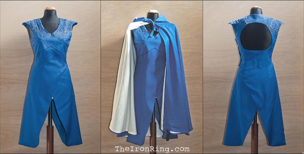 Daenerys' Dragonscale Blu Dress by TheIronRing
