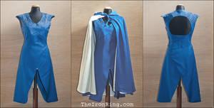 Daenerys' Dragonscale Blu Dress