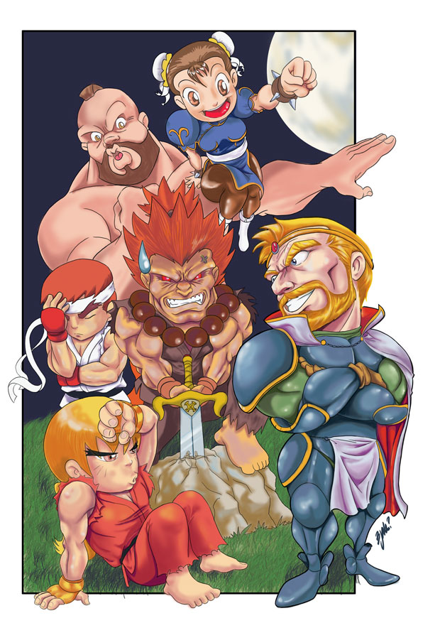 King Arthur vs. Capcom by Bjak
