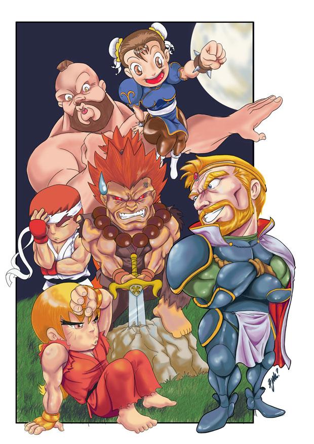 King Arthur vs. Capcom by Bjak