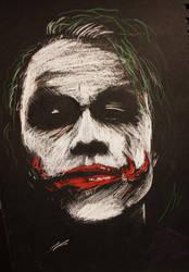 The Joker BW by piratebutl23