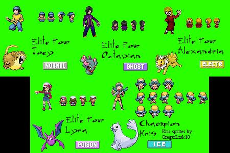 Pokemon FireRed Hack- Elite Four+Champion by FenrirDarkWolfe